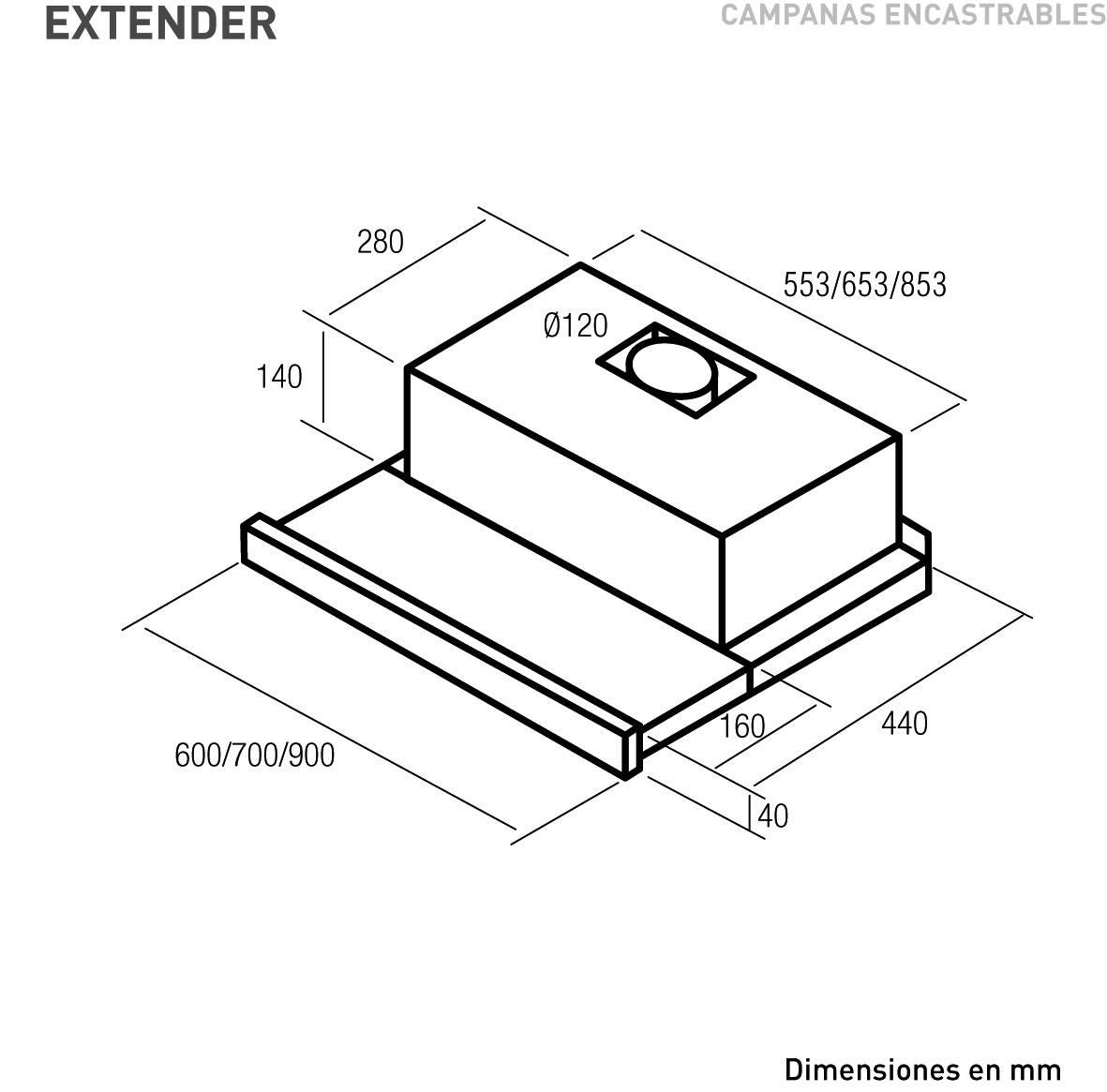 Extender Nodor Electrodom Sticos ~ Campanas Extractoras Integrables